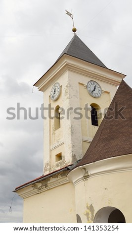 clock tower at castle