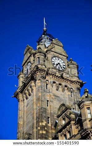 Clock Tower, Edinburgh - stock photo