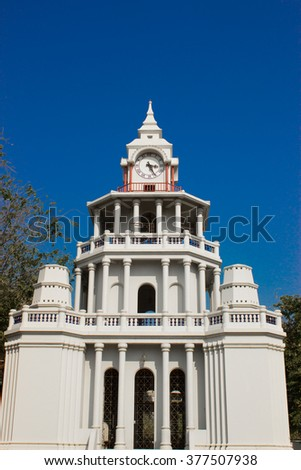 Clock Tower near Wat Pho Temple (Bangkok, Thailand)