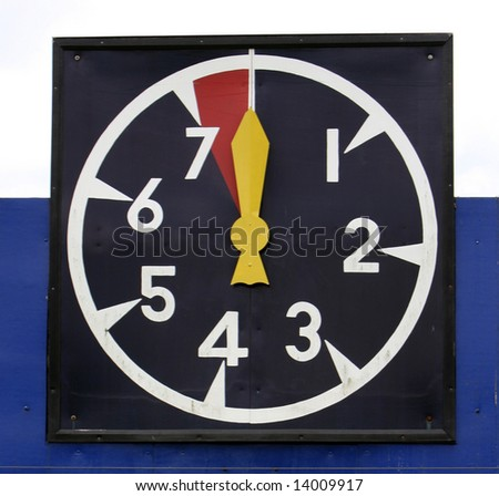 Clock which is used to time the Polo Game - stock photo