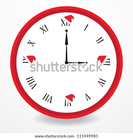clock with christmas design