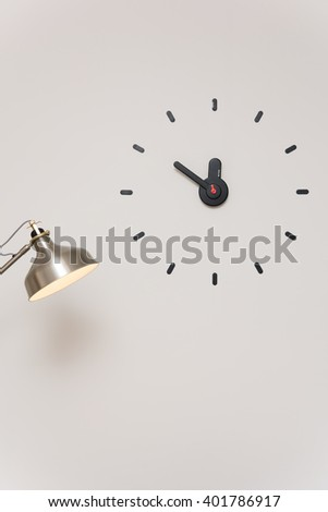 Clock with lamp