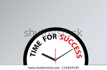 clock woth a time for success - stock photo