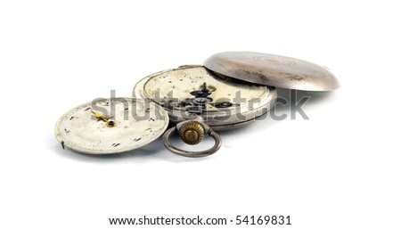 clocks isolated - stock photo