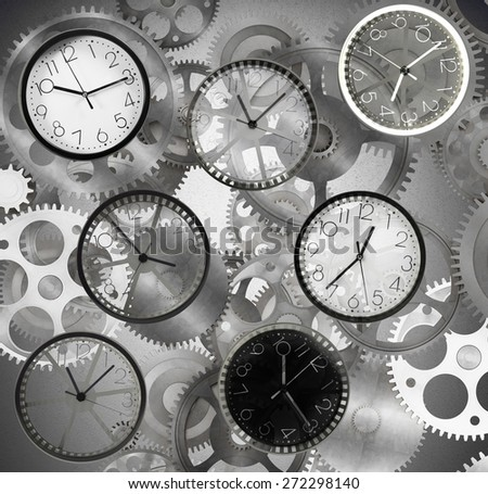 Clocks mark the time that passes quickly - stock photo