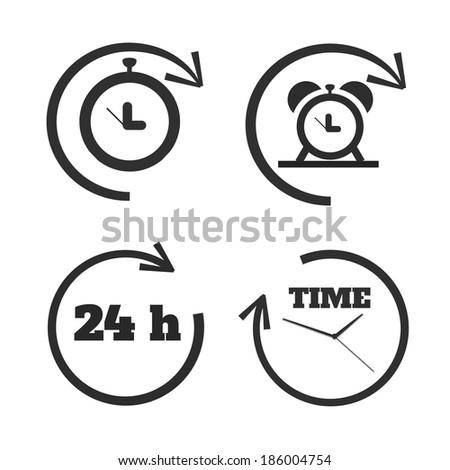 Clocks, time icons set. Raster version - stock photo