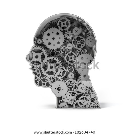 Clockwork mind - stock photo