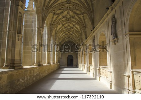 Cloister in the monastery of San Millan de Yuso,La Rioja