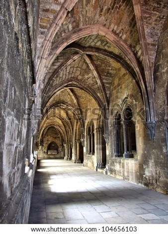 Cloister of Lisbon cathedral in Portugal