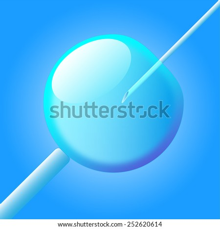 Clone stem cell, Stem Cell Research, cloned human embryos - stock photo