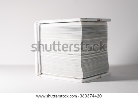 close book lying on a white backgrounds
