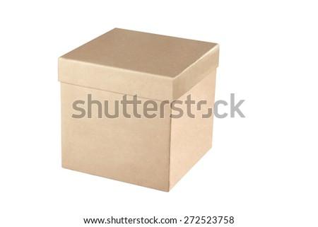 Close box isolated on white. - stock photo