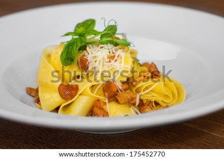 Close image of pasta with cheese