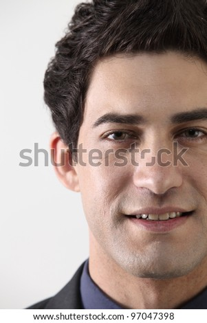 close of a business man - stock photo