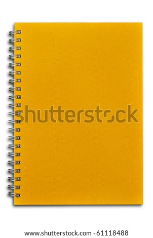 Close Orange notebook for text and background - stock photo