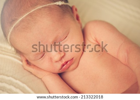 Close portrait of Newborn Baby Sleeping