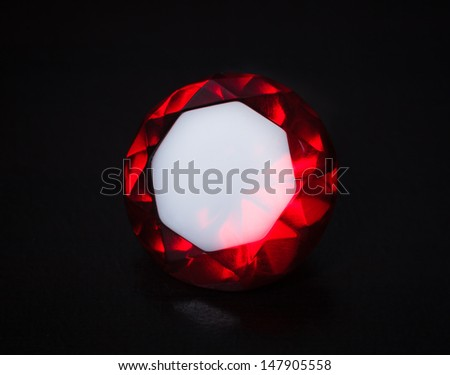 Close-Red stone black back