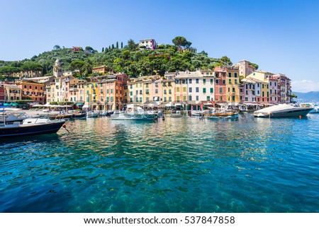 Close to Cinque Terre area, Portofino is one of the most beautiful and fashion town.