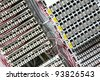 close up  abstract electronic number board background. - stock photo