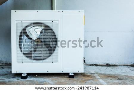 Close up air compressor    - stock photo