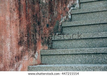 Close up and details of  stairs - stock photo