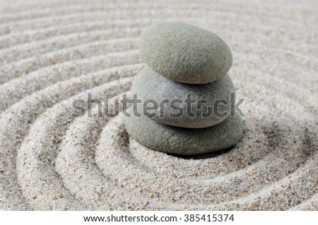 Close up and selective focus of stacked zen stones - stock photo