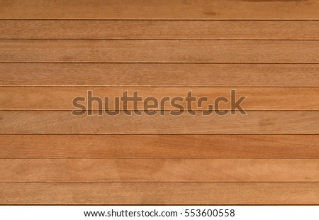 close up background and texture of decorative wood striped on surface wall