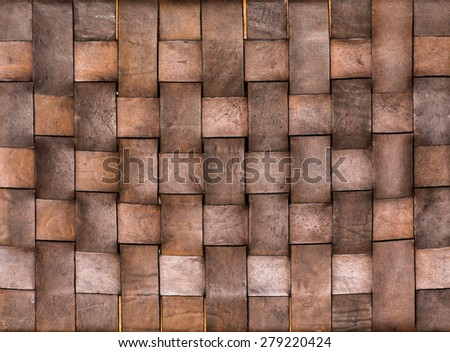 close up background and texture of weave leather