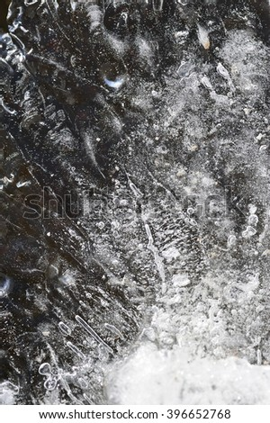 Close up background of melted ice.