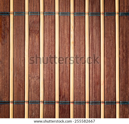 Close up bamboo table mat
