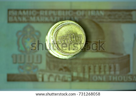 Close up Banknote and Currency Bills and Coins
