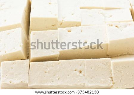 close up bean curd tofu - stock photo