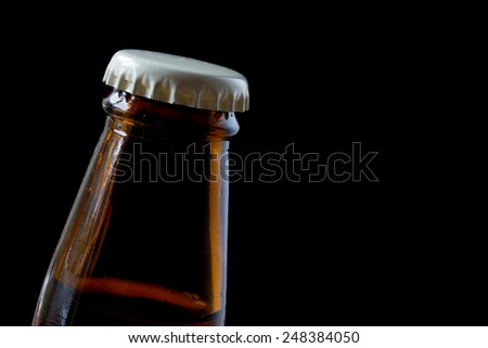 Close up beer bottle cap - stock photo