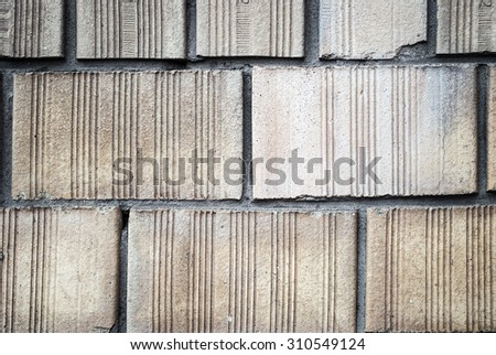 close-up beige  Bricks wall