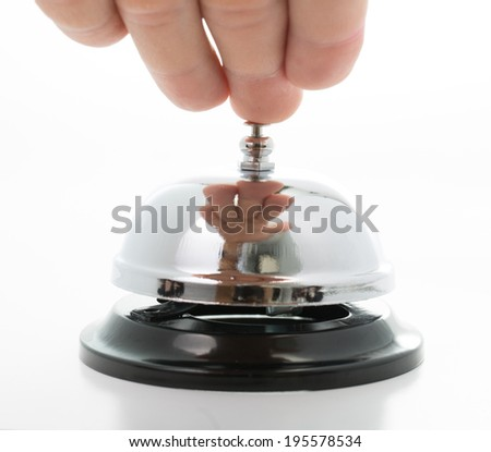 Close up Bell service on the whtie background - stock photo