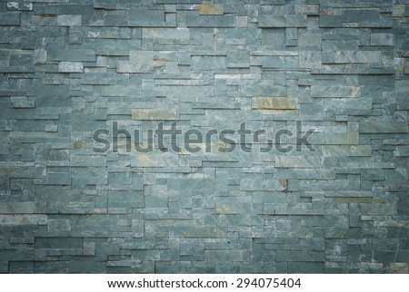 Close up black slate wall texture and background - stock photo