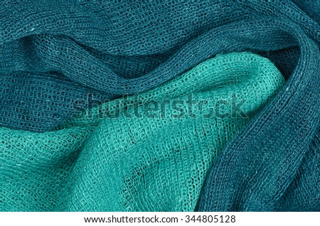 close up blue scarf background