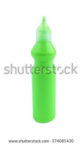 Close up bottle of water color