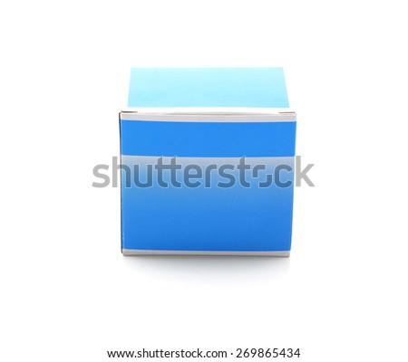 Close up box on white background  - stock photo