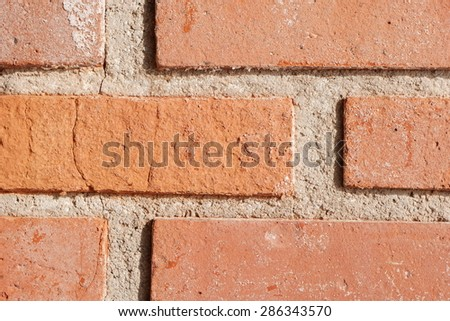 Close Up Brick Wall Texture - stock photo