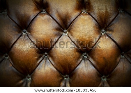 Close up brown leathers texture of Sofa background