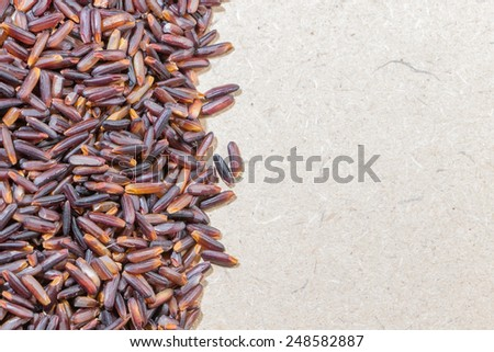 Close-up  brown rice background