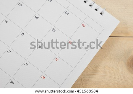 close up calendar date background - stock photo