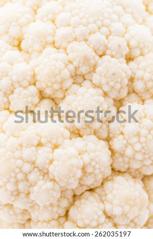 Close up cauliflowers background - soft focus point