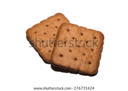 Close up chocolate biscuit - stock photo