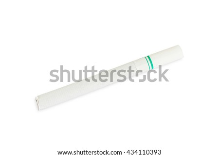Close up Cigarette on isolated  white backgrounds