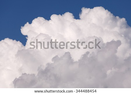 Close-up cloud with blue sky