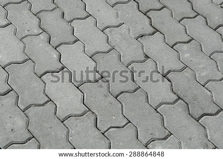 close up cobblestone  background - stock photo