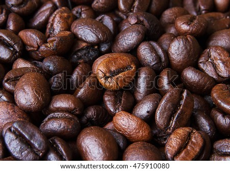 Close-up Coffee beans background
