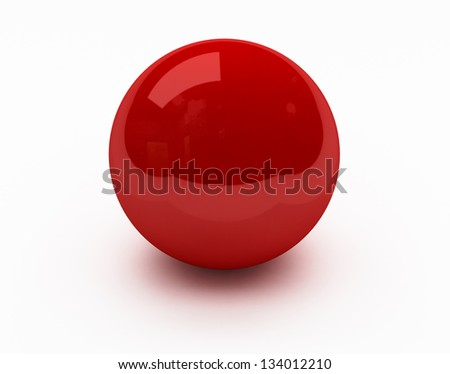 Close up color ball of isolated
